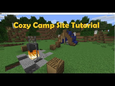 How To Build A Cozy CampSite In Minecraft