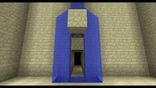 Waterfall Splittersecret Door Ie Batcave Entrance Minecraft Redstone