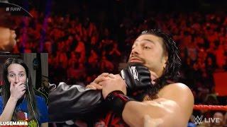 WWE Raw 3/6/17 The Undertaker Chokeslams Roman Reigns