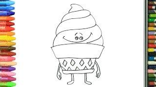 çocuk şarkısı Ile Renkleri öğreniyorum Neşeli Dondurma çizim