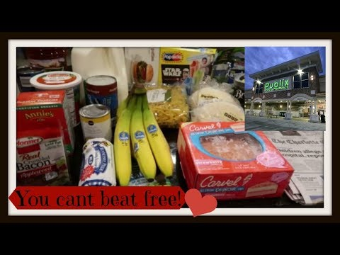 A Free Publix Haul with a splash of Walmart equals this weeks grocery haul and meal plan!