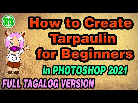 Photoshop Tagalog Tutorial Tarpaulin Making