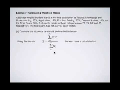 Measure of Central Tendency 3 Weighted Mean and Mean of Grouped Data