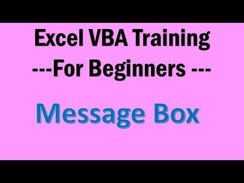 Excel VBA Tutorial 03 - Message Box