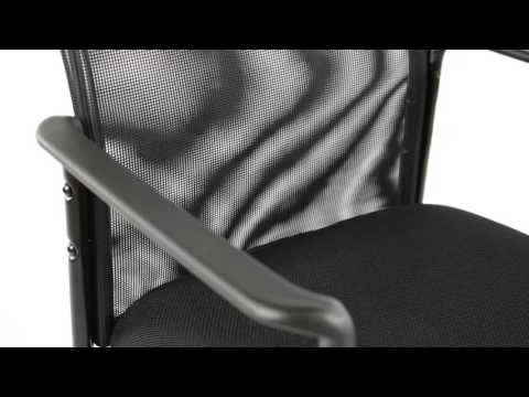 Essentials by OFM Mesh Upholstered Stacking Side Chair with Arms Model 8010