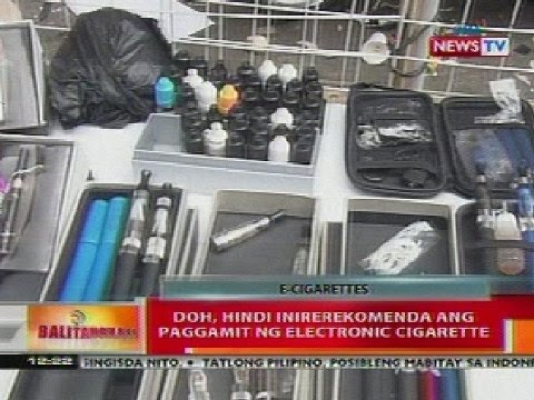 BT: DOH, hindi inirerekomenda ang paggamit ng E-cigarette
