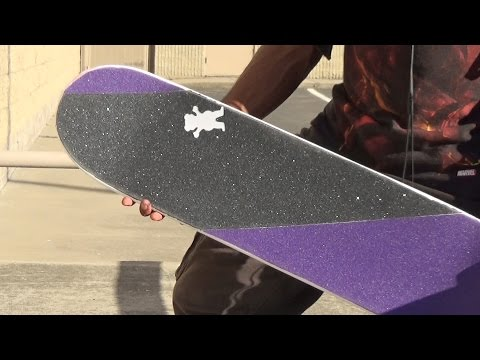 Sick New Grip Tape Design! (How to Grip a Skateboard)