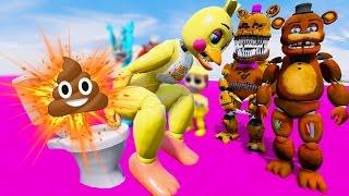 TOY ANIMATRONICS EXPLOSIVE POOP PRANK! (GTA 5 Mods For Kids FNAF Funny Moments) RedHatter