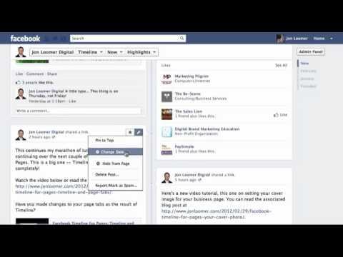 Facebook Timeline For Pages: Editing Timeline