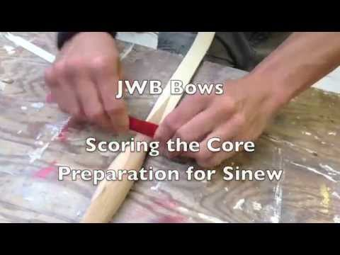 Scoring the Core in Preparation for Sinew on a Turkish Composite Horn Bow