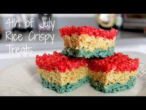 FOURTH OF JULY RICE KRISPIES TREATS - HOW TO MAKE
