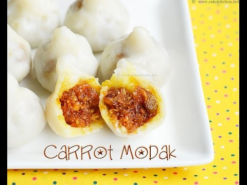 Carrot modak recipe   Ganesh Chaturthi recipes