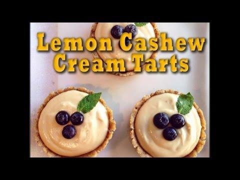 Lemon Cashew Cream Tarts: Raw Vegan Dessert Recipe