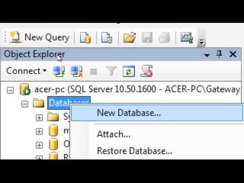 Creating Database in SQL SERVER 2008 R2 in Hindi