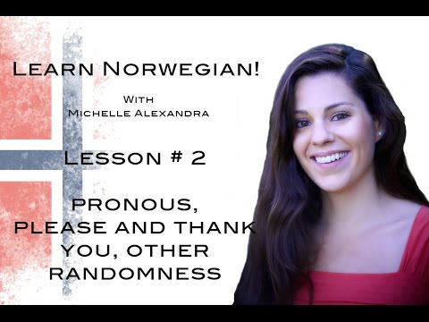 Learn Norwegian! Lesson #2 - Nouns, Please and Thank you, etc.