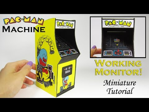 Miniature DIY: PacMan Arcade Game (with working monitor!)