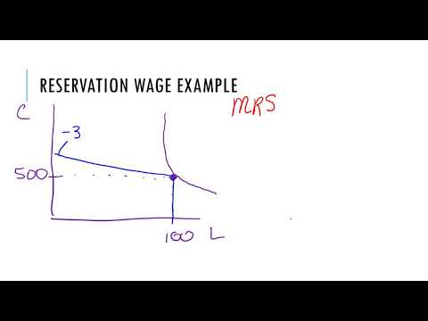 Finding the Reservation Wage Labor Supply video