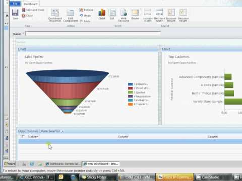 MS CRM 2011 Dashboards and Charts