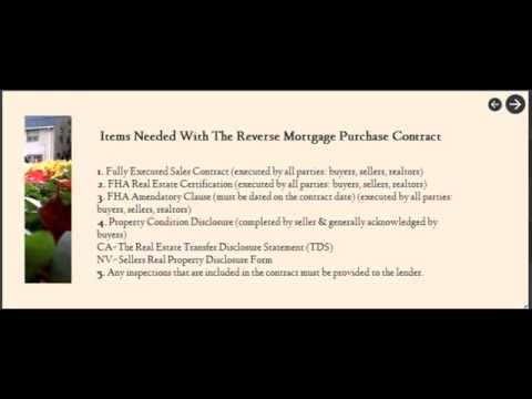 Tips For a Successful Reverse Mortgage Purchase Transaction