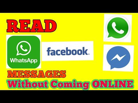 How to read Whatsapp And Facebook Messages Without coming