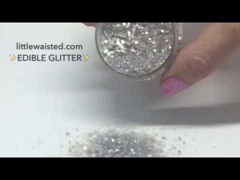 Metallic Silver Edible Glitter Sugar Sprinkles - Bakery Bling