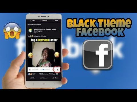 How to make Facebook black or into any color dark theme without root in just few seconds 2018