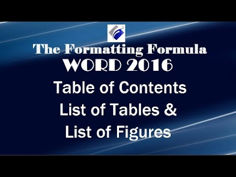 Word 2016   Table of Contents   List of Tables   List of Figures