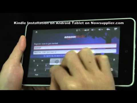 Kindle Installation on Android Tablet on Nowsupplier.com