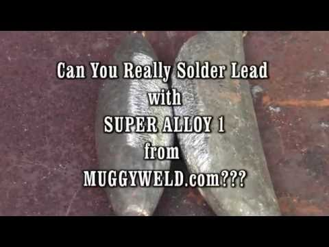 Soldering Lead to Lead Using muggyweld.com's Super Alloy 1 Rod and Flux