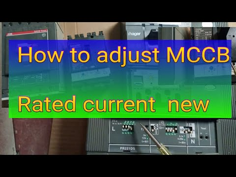 mccb current rating adjustable /mccb current setting /mccb current rating setup