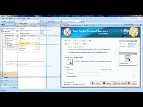 Microsoft Outlook 2007: how to recover forgotten password