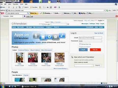 video teaching you how to open your friendster