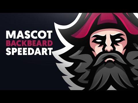 Adobe Illustrator   Mascot   BLACKBEARD   Shard x Gabe Logos