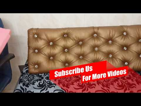 DIY: Make Tufted Headboard for Double Bed at Home | Bedroom Decor