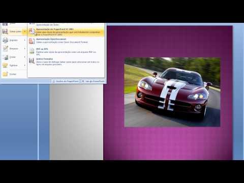 Como transformar um slide do PowerPoint para o formato JPEG