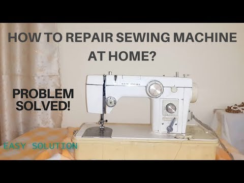 How to repair sewing machine when it got stuck