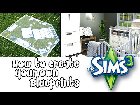 How to: Make custom\your own blueprints in The Sims 3! Add single rooms to your houses.