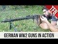 German World War Two Machine Guns In Action