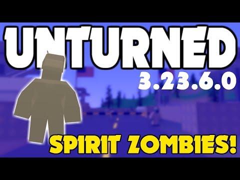 NEW SPIRIT ZOMBIES! Unturned 3.23.6.0 Update!
