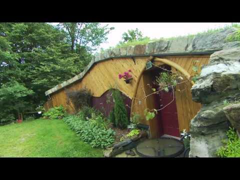 Underground passive solar house in summer -Through any window