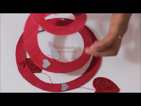 DIY Spiral for Valentines Day Decoration