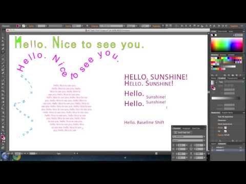 Adobe Illustrator CS6 Type Text Tool Basics Tutorial