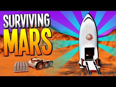 Landing a ROCKET ON MARS and Building a MARS COLONY - Surviving Mars Gameplay