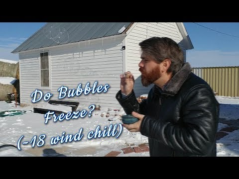 Blowing Frozen Bubbles is Magical!