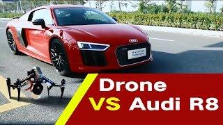 DJI Inspire 2 turbo version VS Audi R8 100 meter race