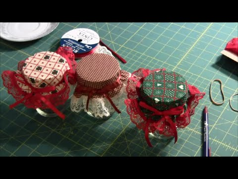 Fabric Jar Toppers - How to make jar covers