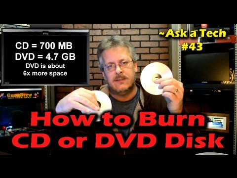 How to Burn a CD or DVD Disk in Windows - Ask a Tech #43
