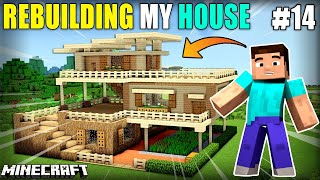 I REBUILD MY HOUSE | MINECRAFT GAMEPLAY#14 | HS GAMING