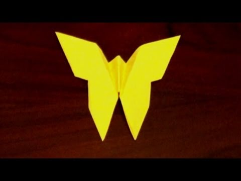 Easy Origami Butterfly Tutorial - How To Make An Origami Butterfly
