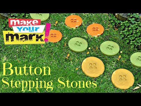 How to: Button Stepping Stones DIY
